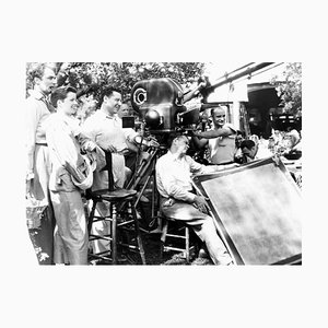 Hepburn & Director George Cukor on Set Archival Pigment Print Framed in Black by Everett Collection
