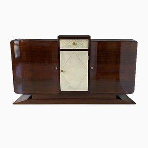 Französisches Art Deco Pergament Sideboard, 1930er
