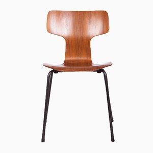 Sedia da pranzo modello 3103 di Arne Jacobsen per Fritz Hansen, anni '70
