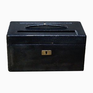 Antique Leather Letter Box from J.W. & T. Allen