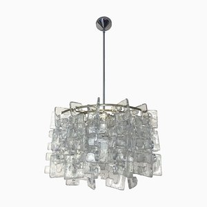 Italian Murano Glass Ceiling Lamp by Carlo Nason for Mazzega, 1970s