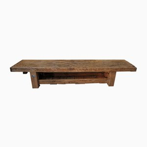 Long Coffee Table or Bench in Fir, 1930s