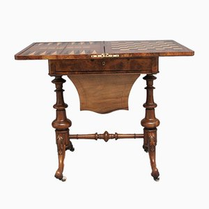 19th Century Burr Walnut Game Table