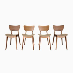 Vintage Model 6257 Dining Chairs by Roger Landault, 1950s, Set of 4