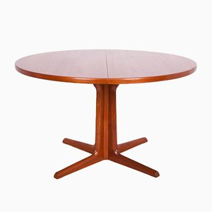 Mid-Century Teak Round Dining Table from Gudme Mobelfabrik, 1960s