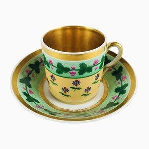 Antique Porcelain Coffee Cup, Set of 2