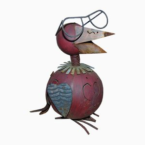 Vintage Garden Bird Sculpture, 1970s