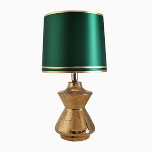 Organic Metallic Gold Ceramic Table Lamp by Aldo Londi for Bitossi, 1970s