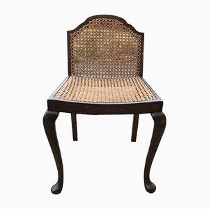Vintage Sessel aus Holz & Schilfrohr, 1950er
