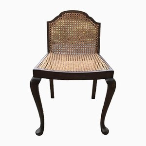 Vintage Wood & Cane Lounge Chair, 1950s