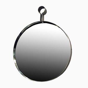Mid-Century Modern Italian Steel Circular Mirror, 1960s