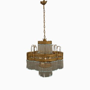 Liberty Style Murano Glass Rod Chandelier, 1960s