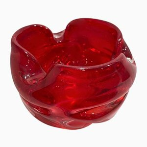 Red Murano Glass Ashtray, 1970s