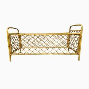 Vintage Rattan Crib, 1950s