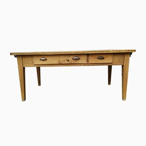 Antique Oak Farmhouse Dining Table