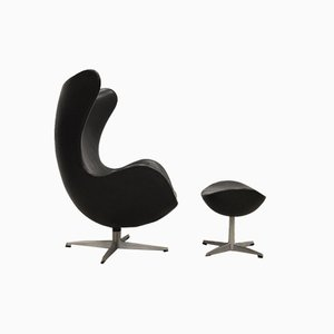 Egg Lounge Chair & Ottoman by Arne Jacobsen for Fritz Hansen, 1950s, Set of 2