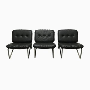 Mid-Century German Lounge Chairs by Hartmut Lohmeyer for Mauser Werke Waldeck, Set of 3