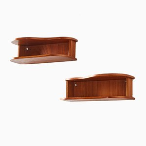 Vintage Teak Shelves, 1960s, Set of 2
