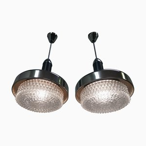 Metal UFO Chandeliers from Napako, 1970s, Set of 2