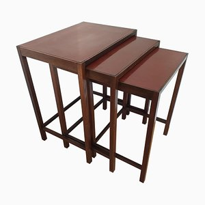 Art Deco Functionalism H50 Nesting Tables by Jindrich Halabala, 1930s, Set of 3