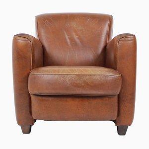 British Leather Armchair, 1970s