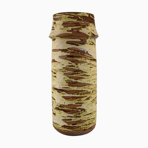 Large Cylindrical Vase in Glazed Ceramic by Tony Gant, England
