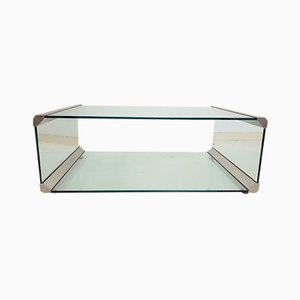 Vintage 2-Glass Coffee Table from Gallotti & Radice