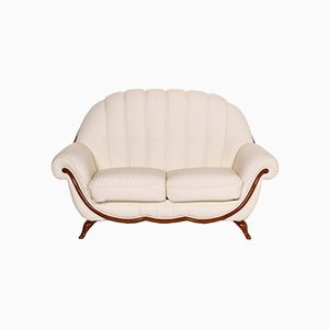 Cream Leather 2-Seat Sofa from Nieri