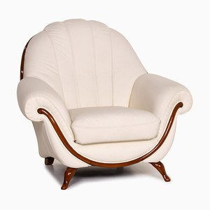 Cream Leather Armchair from Nieri