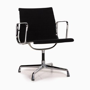 Black Fabric & Aluminium EA 108 Swivel Chair from Vitra