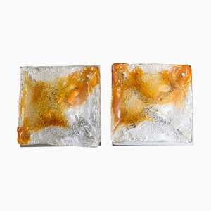 Murano Glass Abstract Sconces from Mazzega, Italy, 1970s, Set of 2