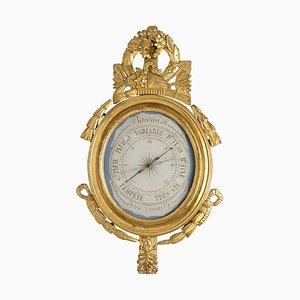 18th Century Louis XVI Barometer in Giltwood