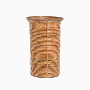 Decorative Bamboo Paper Bin, 1970s