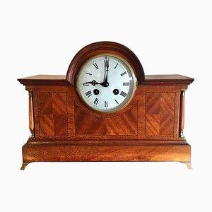 Antique Victorian Mahogany Desk Clock