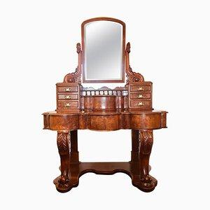 19th Century Victorian Burr Walnut Dressing Table