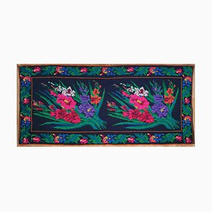 Romanian Floral Wool Rug