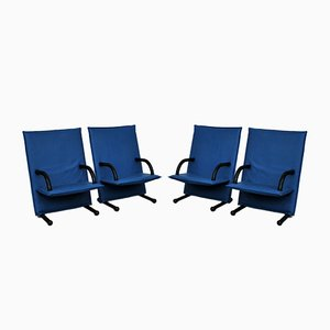 T-Line Lounge Chairs by Burkhard Vogtherr for Arflex, 1980s, Set of 4