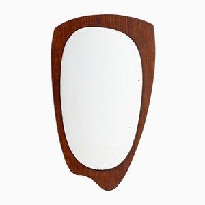 Mid-Century Beech Framed Mirror, 1960s