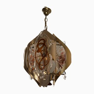 Italian Murano Ceiling Lamp from Mazzega, 1970s
