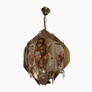 Italienische Deckenlampe aus Muranoglas von Mazzega, 1970er