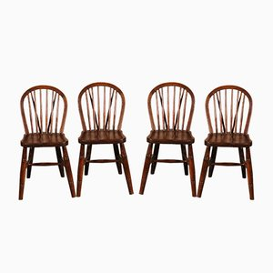 19th Century Windsor Dining Chairs from Jelliot & Son, Set of 4