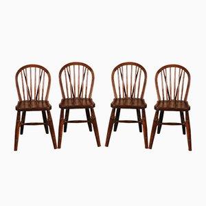 Windsor Esszimmerstühle aus 19. Jh. Von Jelliot & Son, 4er Set