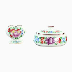 Tschechoslowakische Vintage Keramikvase & Schalen-Set von Chodovia Domažlice, 1974, 2er Set