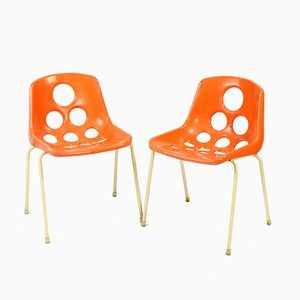 Mid-Century Dining Chairs by Paris for Sicopal, 1972, Set of 2