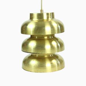 Tschechoslowakische Messing Deckenlampe, 1960er