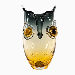 Murano Glass Owl Vase, 1960s