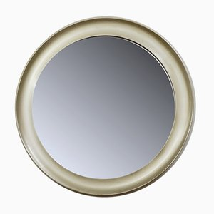 Round Mirror in Brushed Chrome, 1970s