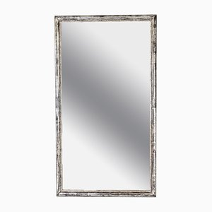 French Silver-Finished Bistro Mirror, 1890