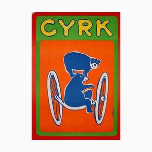 Polish Cyrk Traveling Bears Circus Poster by Zdzisław Horodecki, 1970