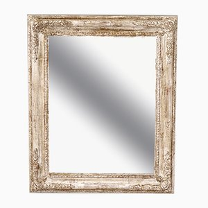 Antique Silvered Framed Mirror, 1890